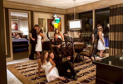Mike and Brandy Branch Wedding - Vegas - Aug, 2012 Multiplicity shot...6 separate shots combined into one.