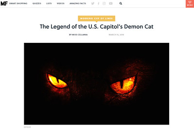 The Legend of the U.S. Capitol's Demon Cat