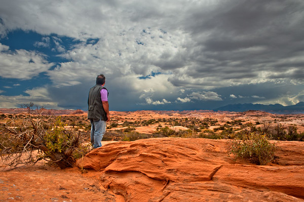 Approaching Storm. Arches NP