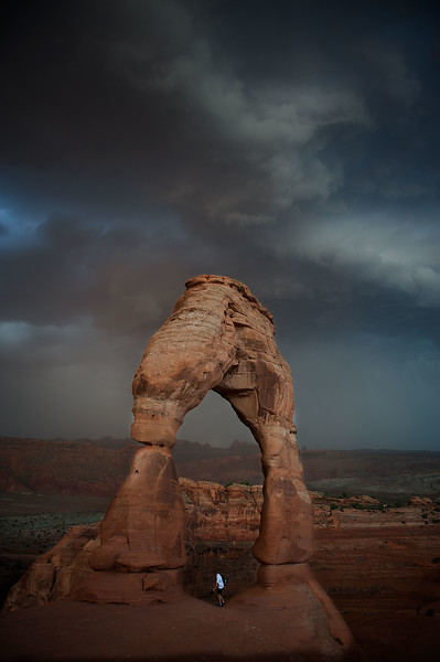 Delicate Arch and Thunderstorms, Arches NP, Utah