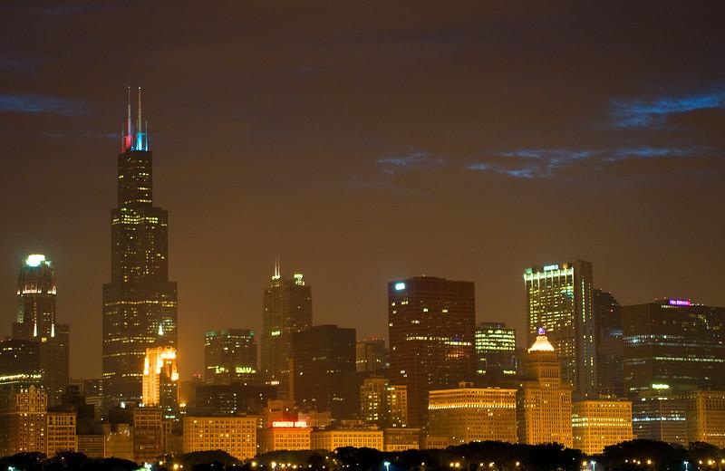 Setting sun-Colors-Chicago