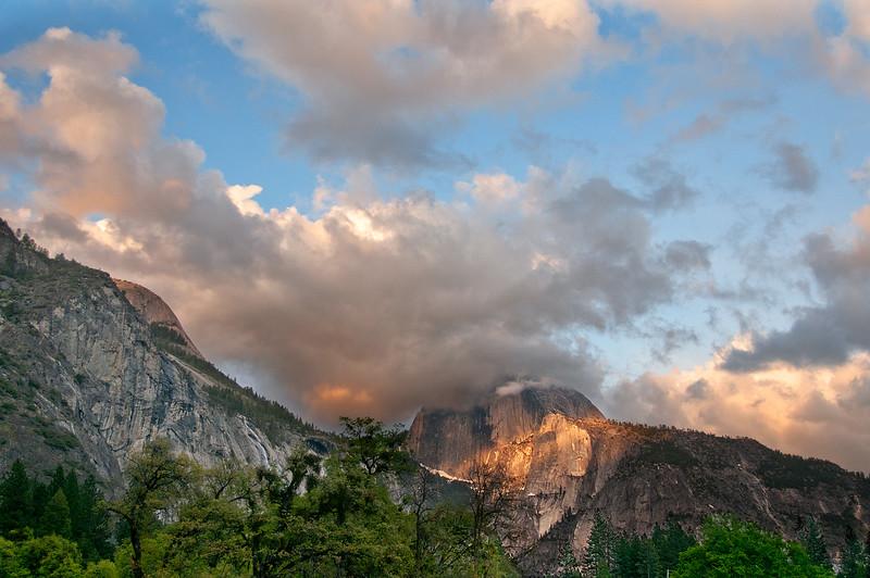 Sun set, Half Dome, Yosemite NP, California