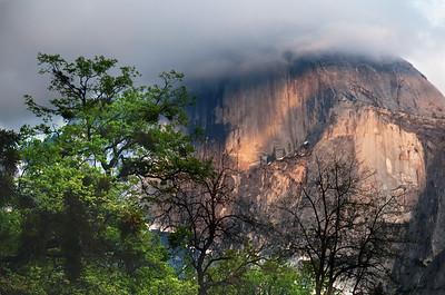 Clouds and Half Dome, Yosemite NP, California
