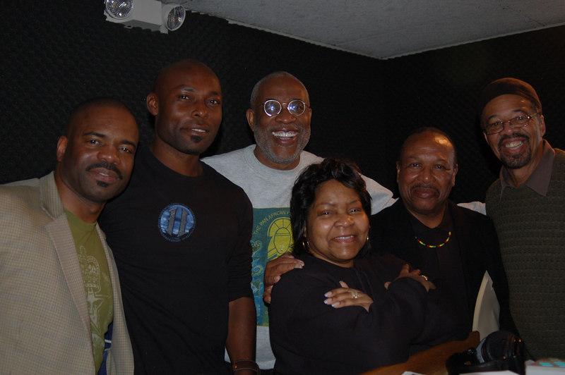Dr. Releford, Jimmy Jean Luis, Ayuko Babu, Jacquie Stephens, Kwaku and Roland Bynum.  Happy days!