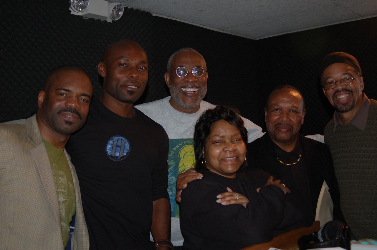 Dr. Releford, Jimmy Jean Luis, Ayuko Babu, Jacquie Stephens, Kwaku and Roland Bynum.  Happy days!