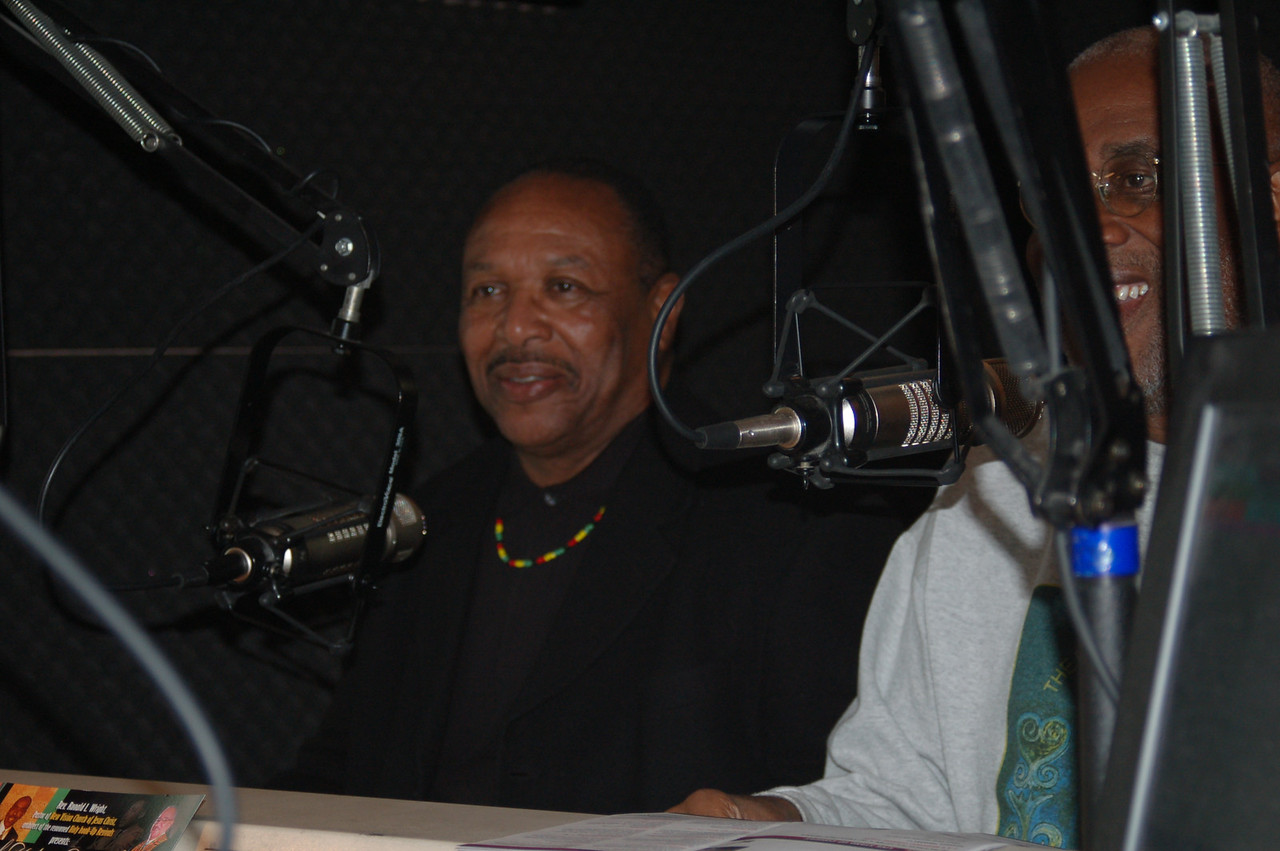 Dr. Kwaku, being interviewed by Jacquie on KJLH.