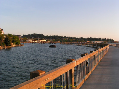 Taylor Dock walkway in Fairhaven, Bellingham WA