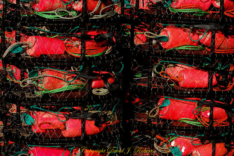Crab pots in Squalicum Harbor, Bellingham, WA