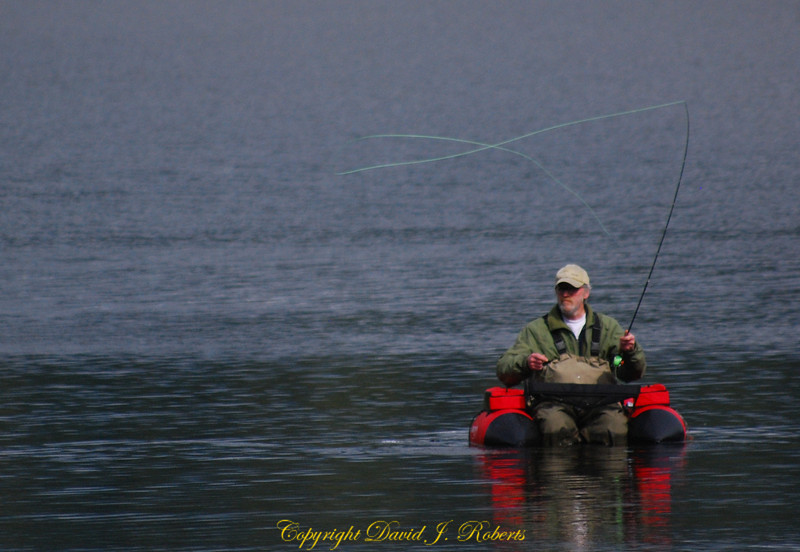 Flyfisherman on Lake Padden, Bellingham, WA