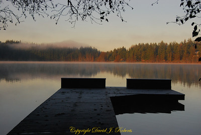 Fishing Dock in the morning light, Lake Padden Park, Bellingham WA