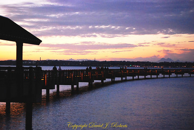 Taylor Dock in Evening Light, Bellingham WA