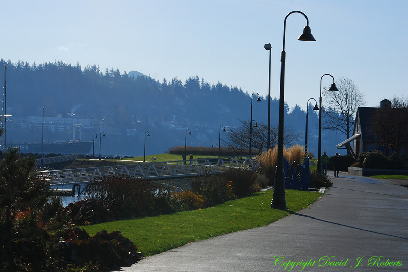 Zuanich Park Boardwalk along Squalicum Harbor, Bellingham, WA