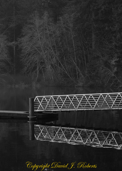 Ramp to the fishing dock at Lake Padden