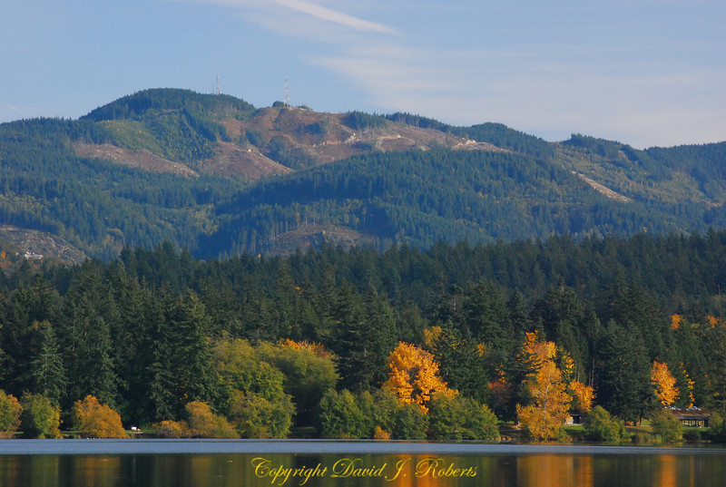 Lookout Mountain above Lake Padden in the Fall, Bellingham WA