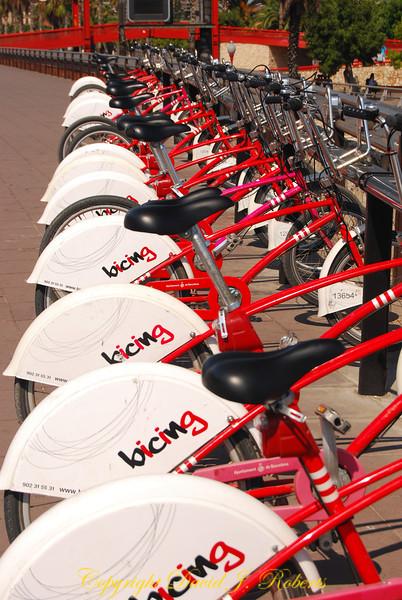 Rental bikes, Barcelona, Spain