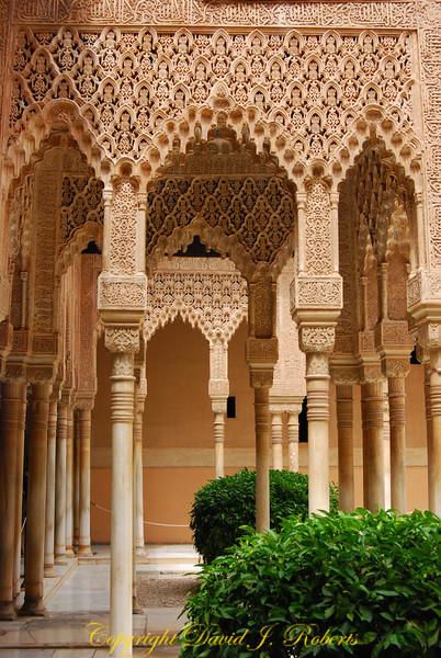 Ornate Columns, Alhambra, Grenada, Spain