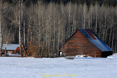 Old Barn along Highway 2 in central Washington near Leavenworth.