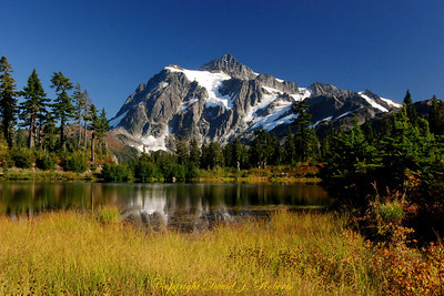 Mount Shuksan from Upper Reflection Lake, Whatcom County, Washington