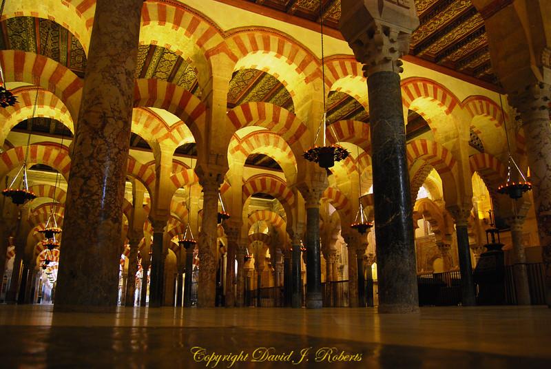 Mezquita, Palace columns, Cordoba, Spain