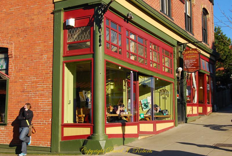 Tony's Coffee in Fairhaven, Bellingham, WA