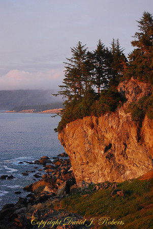 Cliffs in the sunset, Patrick's Point State Park, CA