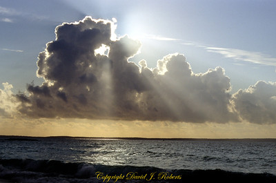 Clouds and heavenly light over Jervis Bay in New South Wales Australia