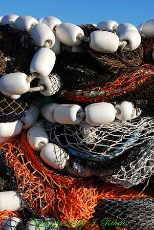 Fishing nets in Squalicum Harbor, Bellingham, WA