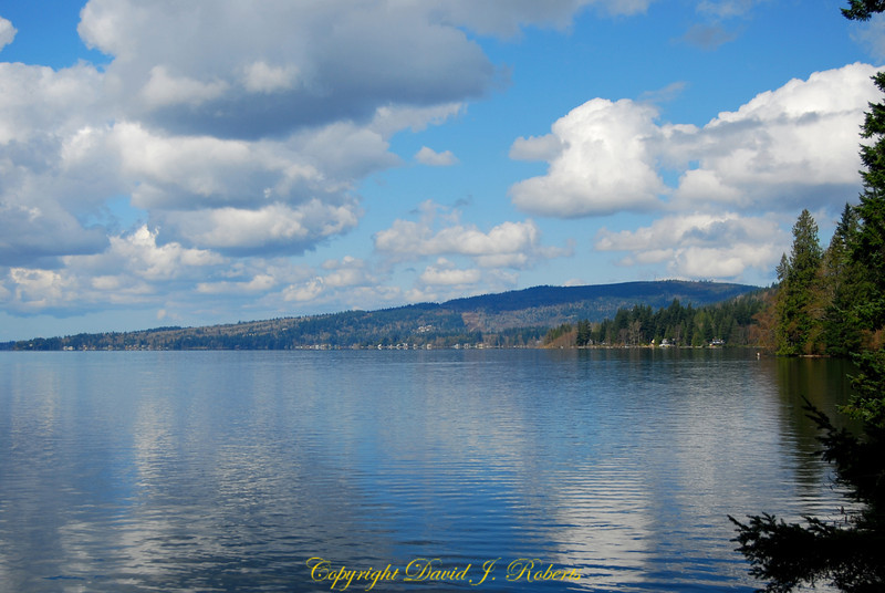 Looking west toward Squalicum Mountain with Lake Whatcom in the foreground.