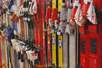 The Ski Fence in Glacier Washington where many old skis have come to rest