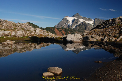 Small tarn with Mount Shuksan, Artist Point,  Whatcom County, Washington