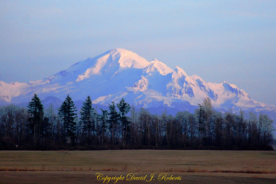 Mount Baker from Point Whitehorn County Park, Whatcom County Washington