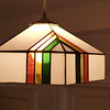 stained glass light fixture, 1975