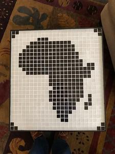 Map of Africa, ceramic tiles, 2019