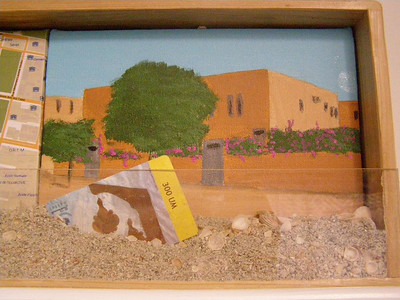 Mauritania Tableau, 4: the small apartment building in which I lived (acrylic on canvas)