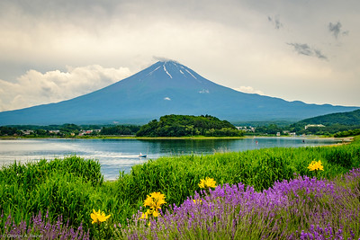 Mt. Fuji from the shores of Lake Kawaguchi