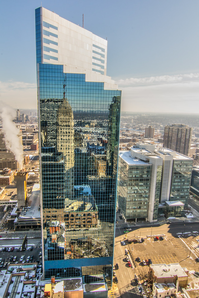 Reflection of the Foshay Tower, Minneapolis.<br /> <br /> All rights reserved by Saibal Ghosh.