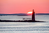ME-CASCO BAY-RAM ISLAND LEDGE LIGHT-SUNRISE