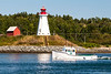 ME-LUBEC-CAMPOBELLO ISLAND [CANADA]-MULHOLLAND POINT LIGHTHOUSE SEEN FROM LUBEC HARBOR