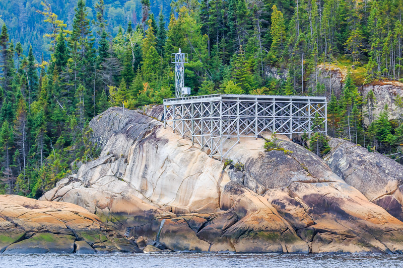 Canada-Quebec-Saguenay Fjord National Park-L'Anse-Saint-Jean-Lighthouse-Aid to navigation