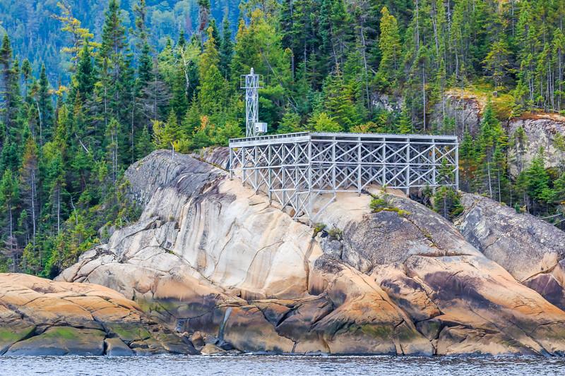 Canada-Quebec-Saguenay Fjord National Park-L'Anse-Saint-Jean-Lighthouse-Aid to navigation