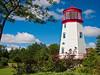 CANADA-ONTARIO-PRESCOTT-PRESCOTT VISITORS CENTER-LIGHTHOUSE REPLICA-3RD ORDER FRESNEL LENS