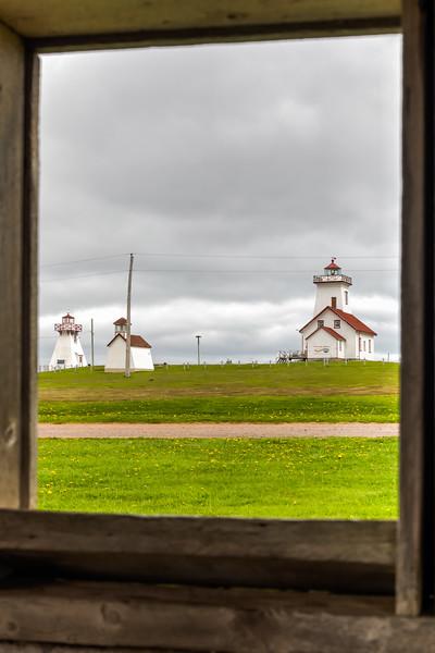 CANADA-PRINCE EDWARD ISLAND-Wood IslandsLighthouse, Wood Islands front range and rear range lighthouse