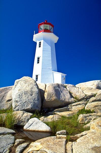 CANADA-NOVA SCOTIA-PEGGY'S COVE-PEGGY'S COVE LIGHTHOUSE