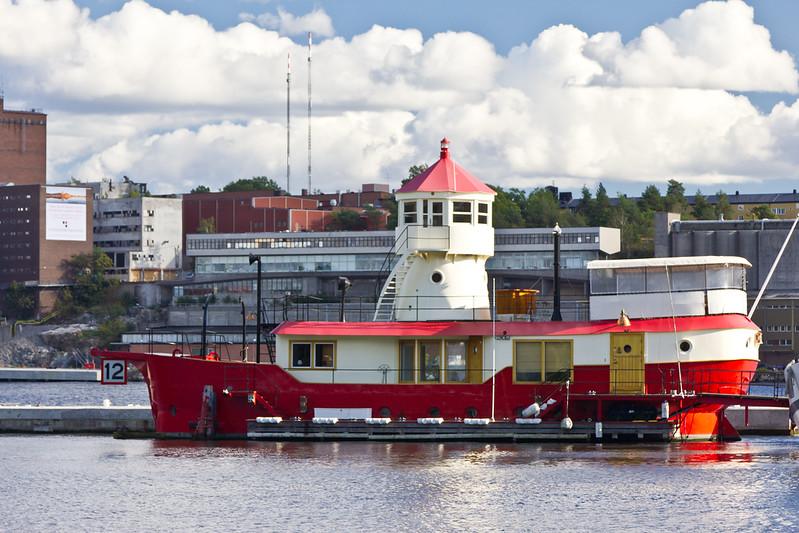 SCANDINAVIA-SWEDEN-STOCKHOLM-DJURGARDEN-BISKOPSUDDEN LIGHTSHIP-FORMERLY Oskarsgrundet LIGHTSHIP