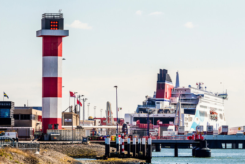 THE NETHERLANDS-HOEK van HOLLAND-FRONT RANGE LIGHT