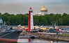 Russia-Saint Petersburg-Kotlin Island-Kabotazhnaya Gavan Range Rear (Petrovskaya Pristan)-Naval Cathedral of St. Nicholas