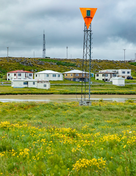 Iceland-Raufarhöfn-Raufarhöfn Rear range Lighthouse