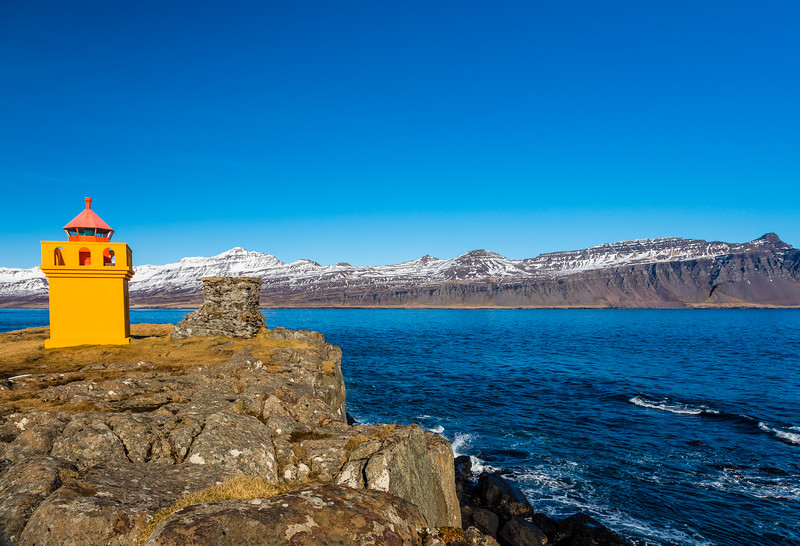 Iceland-Fáskrúðsfjörður-Hafnarnes Lighthouse