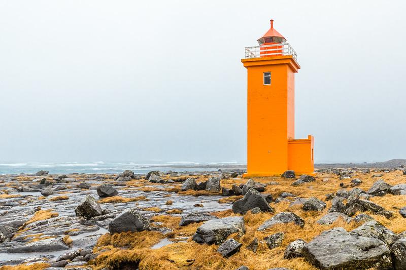Iceland-REYKJANES PENINSULA-Stafnesviti [lighthouse]