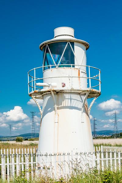UK-WALES-NEWPORT-NEWPORT WETLANDS-EAST USK LIGHT